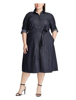 Plus Size Denim Shirtdress by General