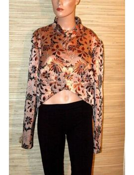 Vintage Asian Metallic Orange Evening Short Jacket~L Xl by Unbranded