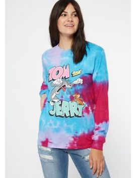 Blue Tie Dye Tom And Jerry Graphic Tee by Rue21