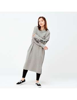 Rise Again By Verdy Sweat Long Sleeve Dress by Uniqlo