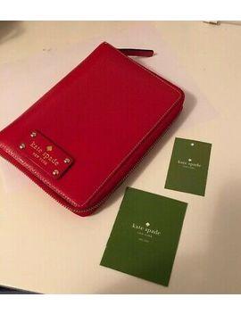 Kate Spade Wellesley Zip Organizer Planner Agenda Red Leather Gold Dot by Ebay Seller