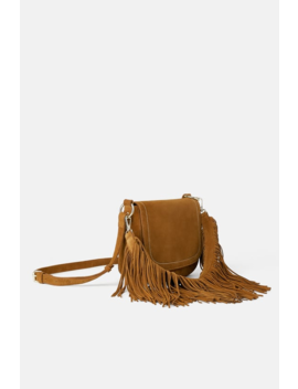 Fringed Split Suede Crossbody Bag  View All Bags Woman by Zara