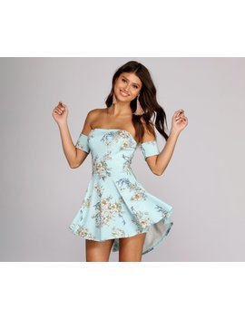 Hibiscus High Low Crepe Romper by Windsor