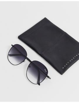 Quay Australia Jezabell Round Sunglasses In Black Fade by Quay Eyeware