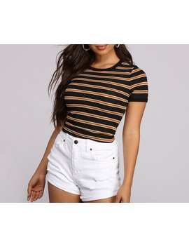 Sass It Up In Stripes Top by Windsor