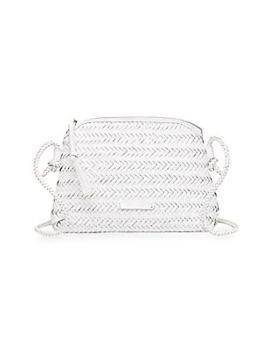 Mallory Woven Leather Crossbody Bag by Loeffler Randall