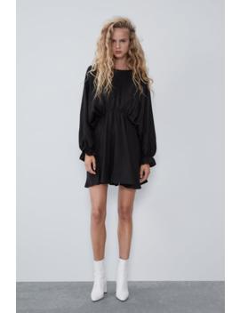 Voluminous Satin Effect Dress  View All Dresses Woman by Zara