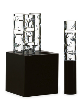 Jallum Pontil Led Crystal Lights, Set Of Four by Baccarat