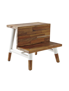Teak Step Stool  Tb Acc69 01 by Serena And Lily