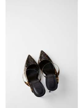 Heeled Mules With Tortoiseshell Ankle Strap Mules Shoes Woman by Zara