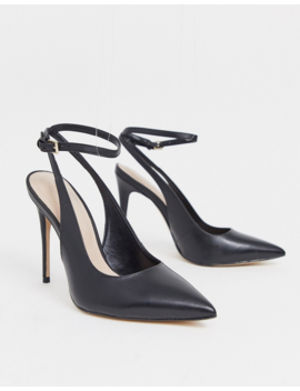 Aldo Leather Pointed Court Shoes In Black by Aldo