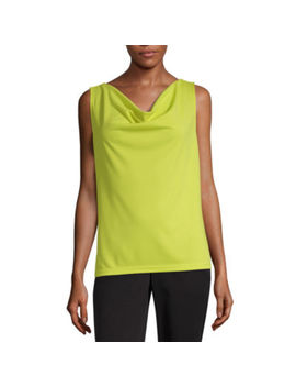 Worthington Womens Cowl Neck Sleeveless Tank Top Tall by Worthington