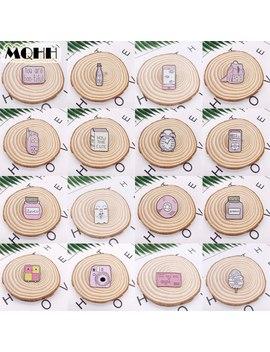 Cartoon Pink Wishing Bottle Phone Backpack Camera Alarm Clock Enamel Brooch Smiley Bones Ghost Cd Smiley Alloy Badge Pin Jewelry by Ali Express.Com