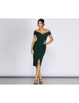 Addison Formal Wrap Midi Dress by Windsor
