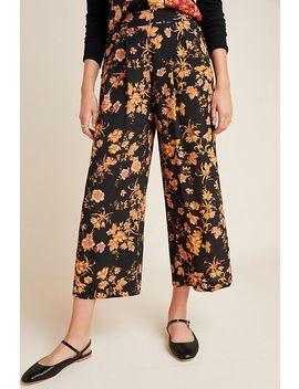 Della Floral Wide Leg Trousers by Kachel