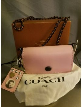 Coach Limited Edition 15 Elvis Dinky Pink Glovetanned Leather Cross Body Bag New by Coach