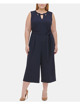 Plus Size Embellished Cropped Jumpsuit by General