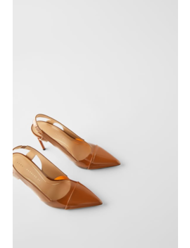 Heeled Slingback Vinyl Shoe  Womanshoes &Amp; Bags New In by Zara