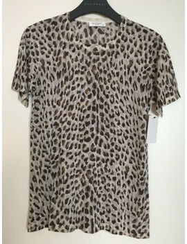 Nwt Equipment 'preston' Leopard Print Silk Blouse, Pewter / Multi, Small by Equipment