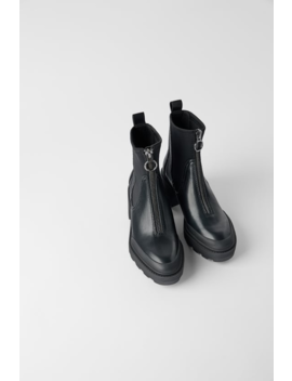 Heeled Lug Sole Ankle Boots With Zip  New Inwoman by Zara