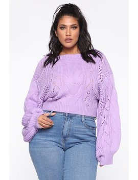 Hiding Secrets Sweater   Lavender by Fashion Nova