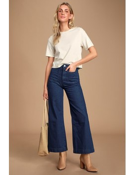 Sailor Dark Wash High Rise Wide Leg Jeans by Rolla's