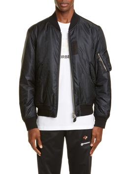 Reversible Tb Monogram Econyl® Bomber Jacket by Burberry
