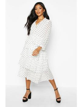 Ruffle Polka Dot Dress by Boohoo