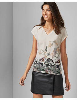 Willow Woven Front T Shirt by Ted Baker