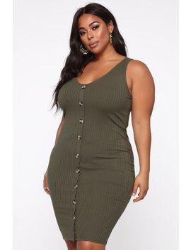 Let You Walk Away Dress   Olive by Fashion Nova
