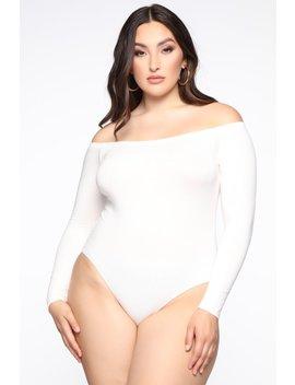 On The Daily Bodysuit   White by Fashion Nova