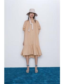 Ruffled Poplin Dress Special Priceswoman by Zara