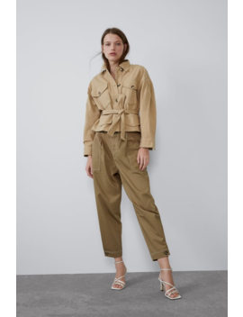 Slouchy Pants With Topstitching Pantstrf by Zara