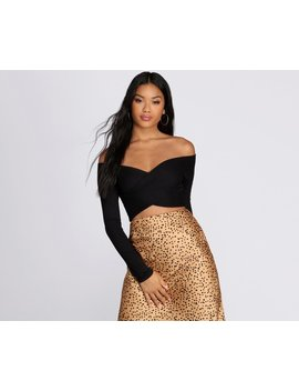 Wrapped In Style Crop Top by Windsor