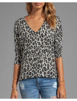 Nwt $248 Joie Chyanne Leopard Print Wool & Cashmere Blend Sweater, Grey, S by Joie