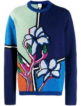Intarsia Knit Jumper by Paul Smith
