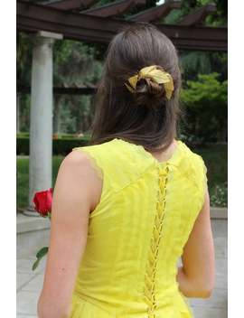 Belle's Gold Hair Piece   Beauty & The Beast 2017   Belle Hair Clip   Belle 2017 Halloween Costume   Womens Belle Costume   Belle Cosplay by Etsy