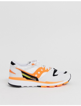 Saucony Azura Og Sneakers In White / Orange by Saucony