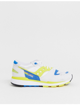 Saucony Azura Og Sneakers In White / Yellow by Saucony