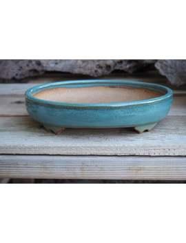 """Oval Bonsai Pot   9.25\"""" X 8\"""" X 2.25\""""   Omanyte Blue by Etsy"""