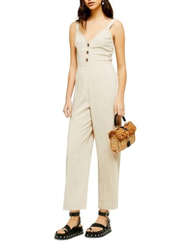 Sleeveless Tie Back Jumpsuit by Topshop