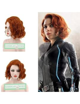 Free Ship The Avengers Black Widow Short Orange Curly Synthetic Hair Cosplay Wig + Wig Cap by Etsy