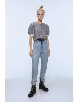 Tweed Top With Pearl Buttons  View All Shirts by Zara