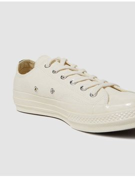 Play Converse Low In Beige by Comme Des Garçons Play Comme Des Garçons Play