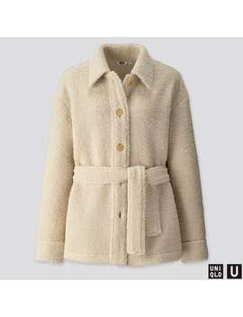 Uniqlo U Pile Lined Fleece Short Coat by Uniqlo
