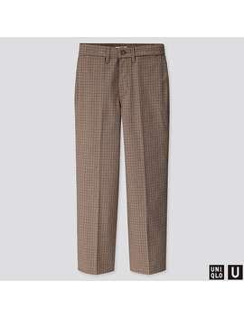 Uniqlo U Checked Straight Pants by Uniqlo