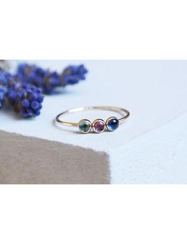 Sapphire Ring, Gold Sapphire Ring, Amethyst Ring, Blue Topaz Ring, Birthstone Jewelry, 9ct Gold Ring, Dainty Ring, Birthstone Ring by Etsy
