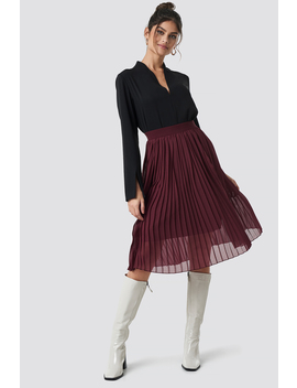 Midi Pleated Skirt Rot by Na Kd