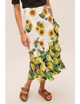 Farm Rio Mixed Print Wrap Skirt by Farm Rio