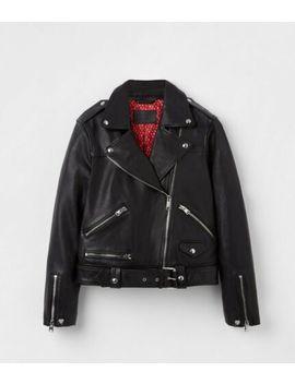 Bnwt Online Exclusive All Saints Women Estae Heart Us10/Uk14 Bikr Leather Jacket by Exclusive